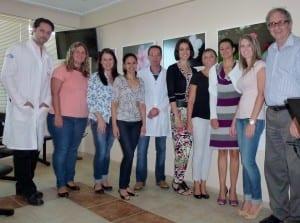 Da esquerda para a direita, Reinaldo, Cecilia (Rio Grande), Elenara, Aline (Santo Angelo), Ricardo (Santiago), Elaine (Ponta Grossa,PR), Alessandra (Porto Alegre), Claudia (Alegrete), Rafaele e Pedro.